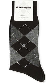 BURLINGTON Dundee argyle socks
