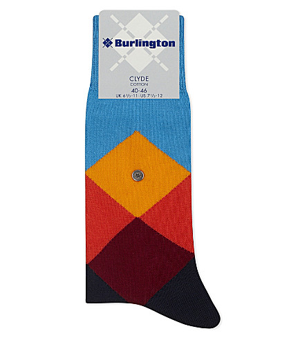 BURLINGTON Clyde cotton-blend socks (B+blue+multi