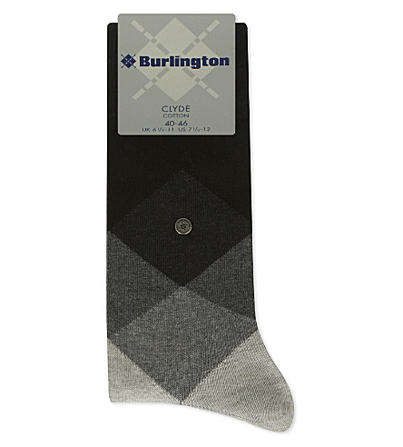 BURLINGTON Clyde cotton-blend socks (Black