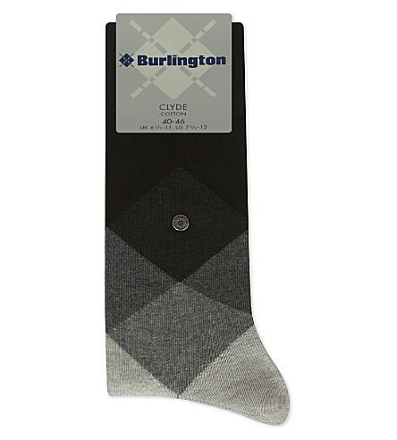 BURLINGTON Clyde diamond socks (Black