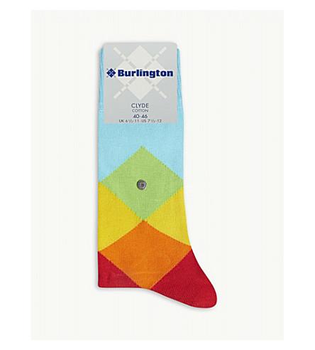 BURLINGTON Clyde cotton-blend socks (Blue+multi