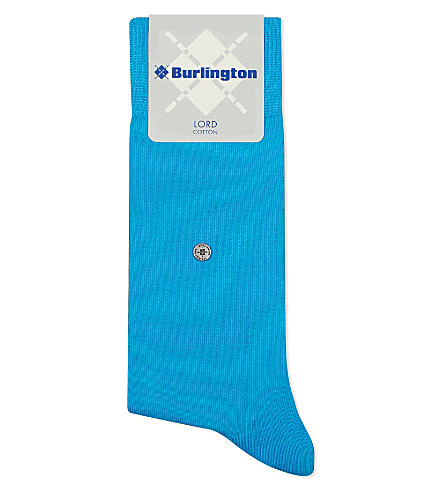 BURLINGTON Lord cotton-blend socks (Blue