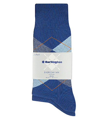 BURLINGTON Everyday mix pack of two socks (Blue+/+grey
