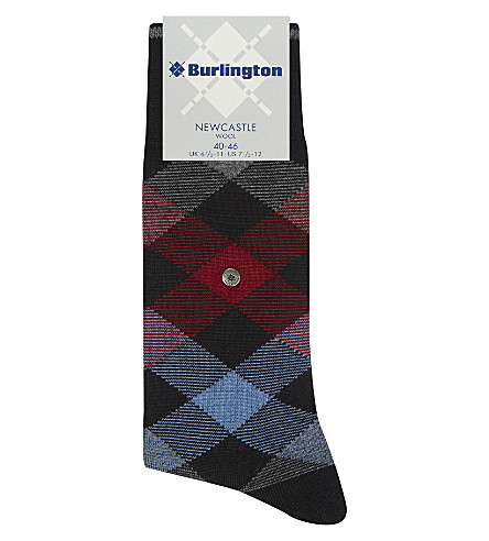 BURLINGTON Newcastle tartan socks (Black