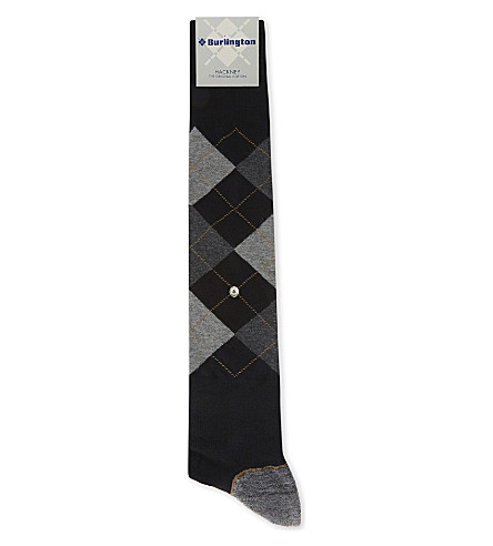 BURLINGTON Hackney cotton-blend socks (Black