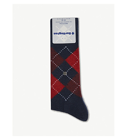 BURLINGTON Preston socks (Black+/+red