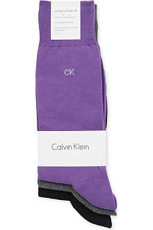 CALVIN KLEIN Three pack logo socks