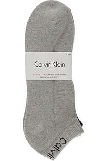 CALVIN KLEIN Pack of three trainer socks