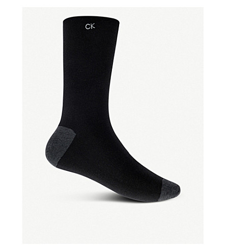 CALVIN KLEIN Egyptian cotton socks (Black
