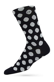CALVIN KLEIN Giza big dot socks