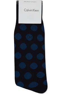 CALVIN KLEIN Pattern dot crew socks