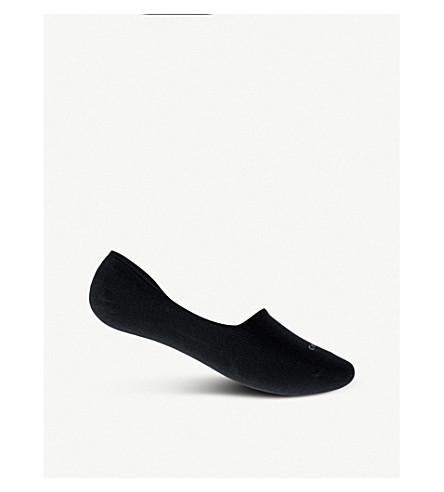 CALVIN KLEIN No Show cotton-blend socks (Black