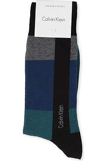 CALVIN KLEIN Colour-block stripe socks