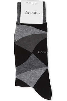 CALVIN KLEIN Motion argyle socks