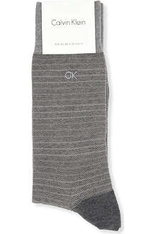 CALVIN KLEIN Pinstripe cotton socks