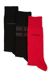 CALVIN KLEIN Tin of three holiday socks
