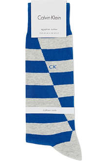 CALVIN KLEIN Broken stripe cotton socks