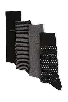 CALVIN KLEIN Box of four holiday socks