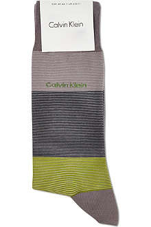 CALVIN KLEIN Giza striped cotton socks