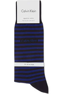CALVIN KLEIN Contrast striped cotton socks