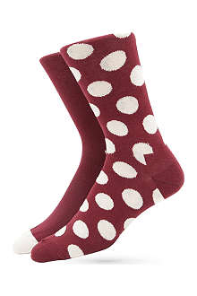 HAPPY SOCKS Pack of two Big Dot socks