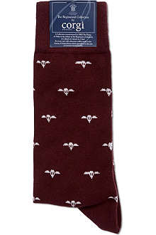 CORGI Regimental plane print socks