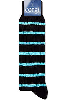CORGI Thin striped ribbed socks