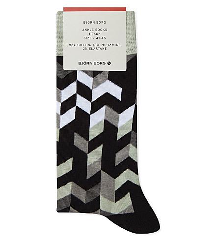 BJORN BORG Cotton-blend ankle socks (Mono
