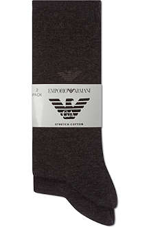 ARMANI Pack of two of logo socks