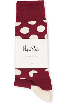 HAPPY SOCKS Pack of two Big Dot and plain socks