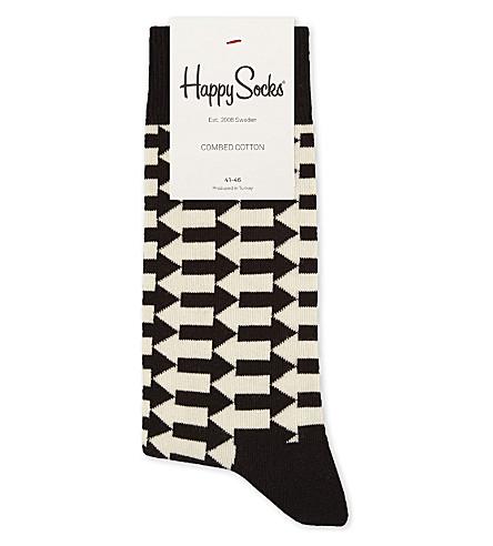HAPPY SOCKS Block Arrow cotton-blend socks (Black+multi
