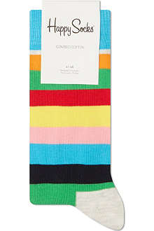 HAPPY SOCKS Thin striped ankle sock