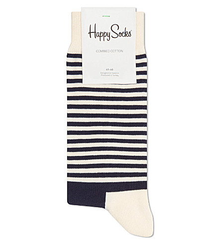 HAPPY SOCKS Half stripe socks (Blue/red