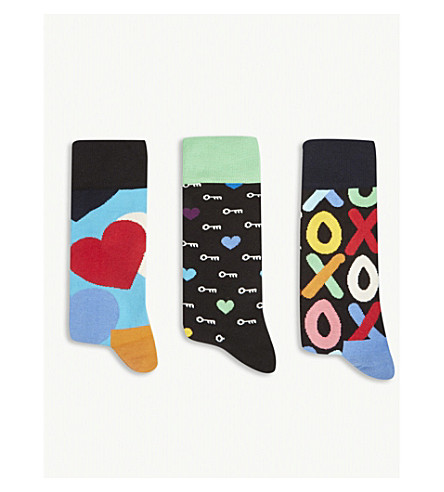 HAPPY SOCKS I Love You combed cotton-blend socks 3-pack (Multi