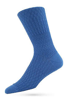 AYAME Solid Basket Lunch socks