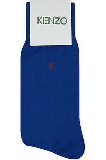 KENZO Solid K logo socks