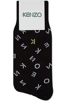 KENZO Jumble Letter logo socks