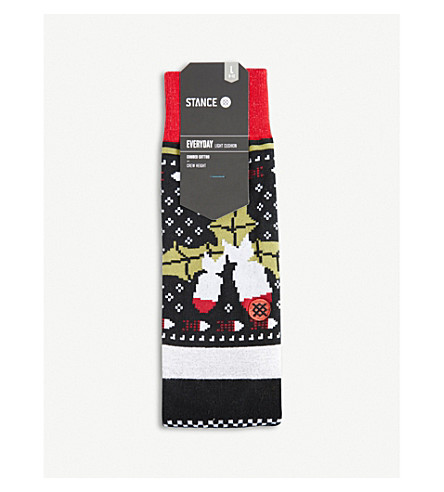 STANCE Biggie cotton-blend socks (Navy+multi