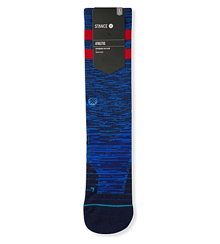 STANCE Athletic Franchise moisture-wicking socks (Blue+red