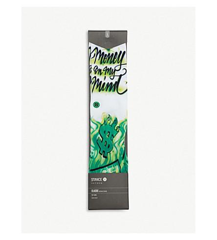 STANCE Airbrush Money cotton-blend socks (White+green