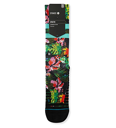 STANCE Athletic floral stripe moisture-wicking socks (Multi