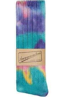 ANONYMOUSISM Tie dye socks
