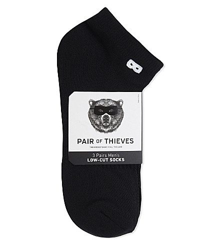 PAIR OF THIEVES Low-cut trainer socks (Black