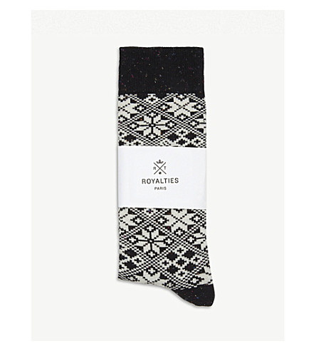 ROYALTIES Aspen cotton-blend socks (Black