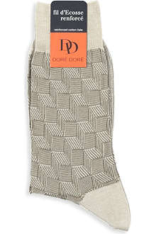 DORE DORE Fil d'Ecoss Renforcé basketweave socks