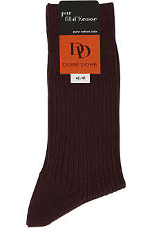 DORE DORE Ribbed pure cotton socks
