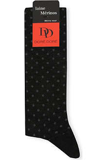 DORE DORE Woolen patterned socks