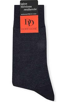 DORE DORE Patterned Merino wool socks