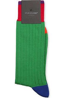 DUCHAMP Ribbed contrast socks