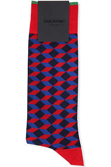 DUCHAMP Mega diamond cotton socks
